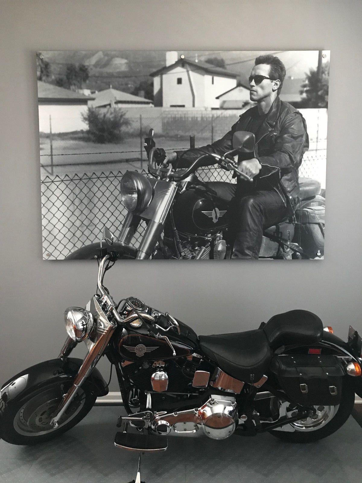 Ebay 1991 Harley Davidson Other Harley Davidson Fatboy 1991 Terminator Bike Harleydavidson Harley Fatboy Harley Harley Davidson