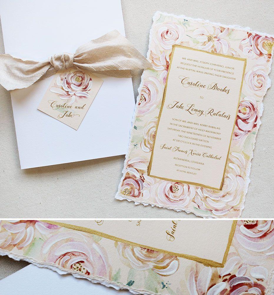 Cherise R. - Hand Painted Floral Frame Wedding Invitations | Wedding ...