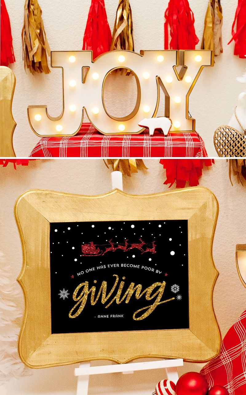 A Giving-Inspired Holiday Dinner Party Giving-inspired Holiday Dinner Party + Free Printable 8x10 Quote Sign |