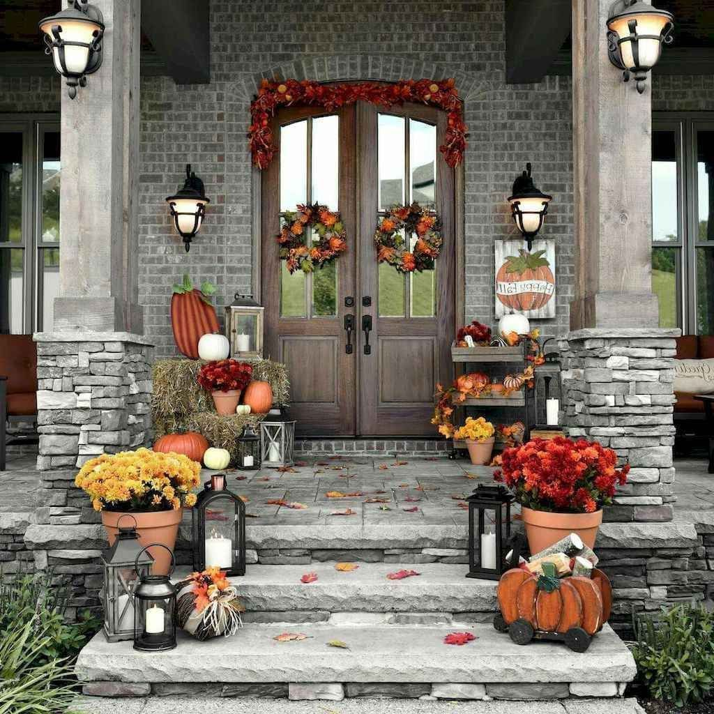 37 Amazing Front Porch Decoration Ideas For Fall 01 Fall Decorations Porch Fall Halloween Decor Fall Outdoor Decor