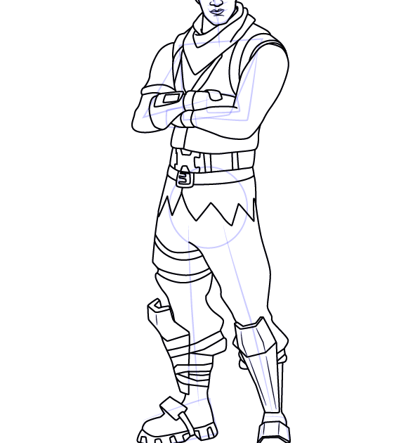 Step By Step How To Draw Codename Elf From Fortnite Fortnite Coloring Pages Print And Color Com Learn How Elf Drawings Horse Coloring Pages Coloring Pages