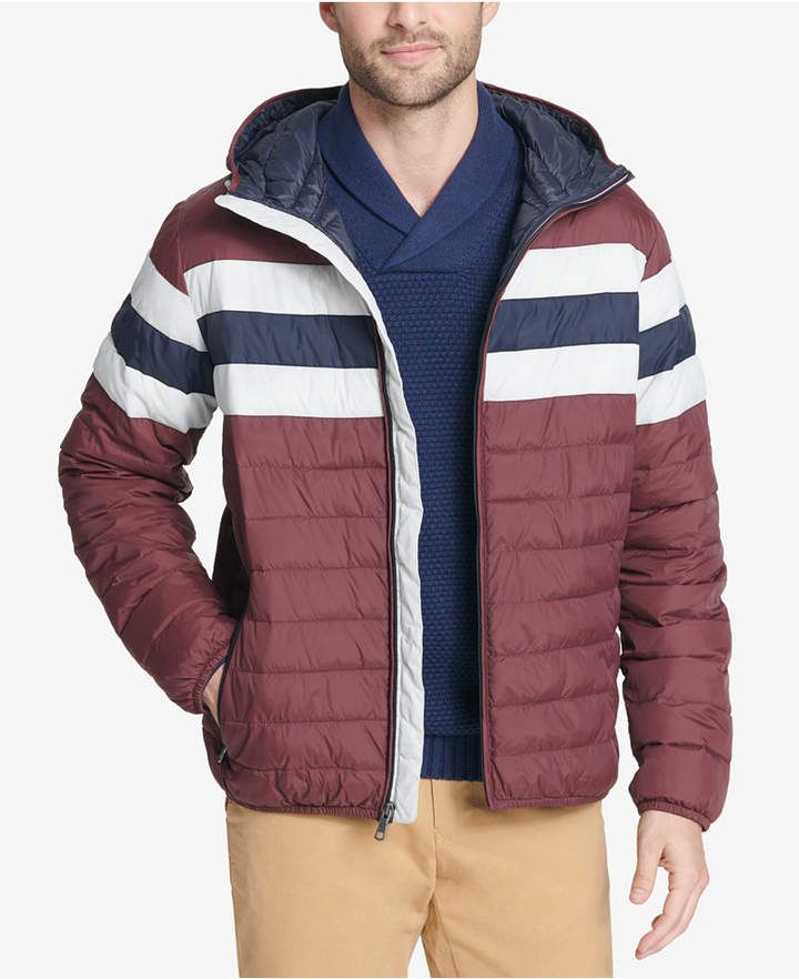 feec42c9ef5 Tommy Hilfiger Men s Big   Tall Colorblocked Hooded Ski Coat ...