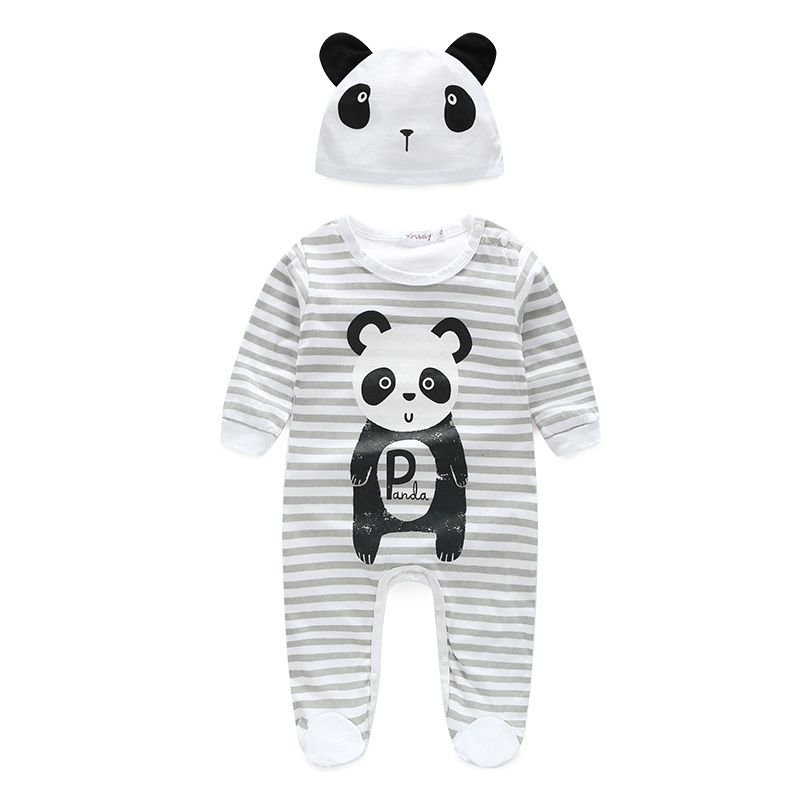 Tiger Animals Cartoon Baby Girl Long Sleeve Bodysuit Jumpsuit