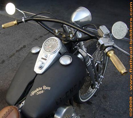Photo of 1958 Panhead FLH Harley Oldschool Bobber.