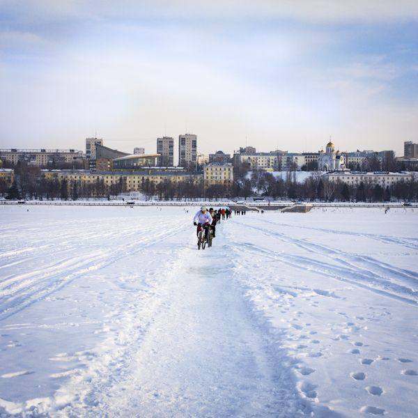 """365 days of photos"". Day2. Samara from frozen Volga river."