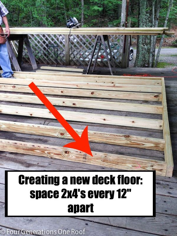 How To Build A Deck Over A Deck Our Campsite Deck Makeover Floating Deck Building A Floating Deck