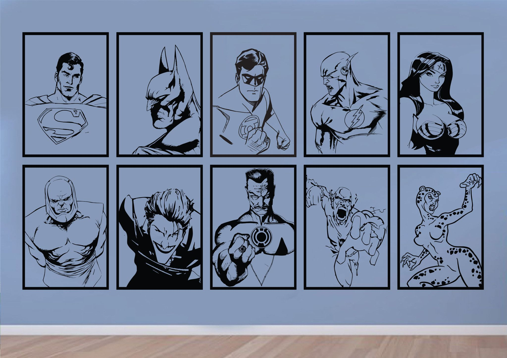 DC Comics Justice League Universe Mural Wall Art Stickers ...