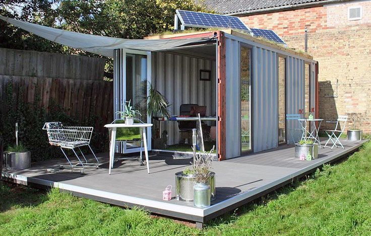 Shipping container homes and extensions lion containers for Extension container