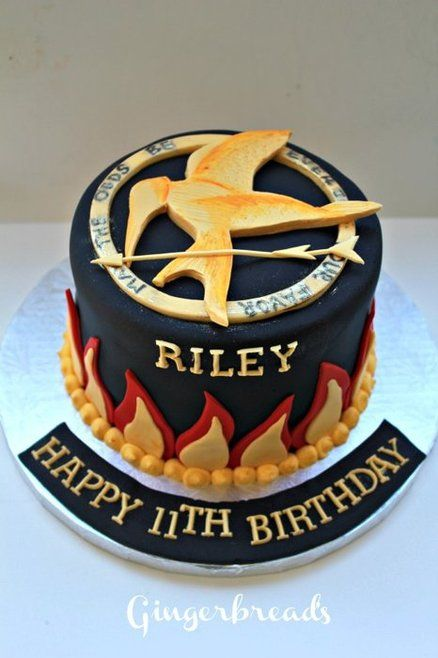 hunger games cake Cake by gingerbreads