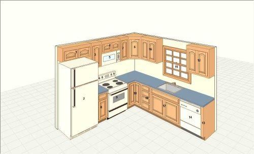 Kitchen Floor Plan Design Tool: Layout Of Kitchen With Island Table