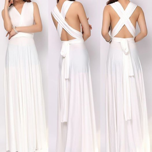 8cb53c05977 Photo  http   tinnainfinitydress.com  Ivory maxi infinity dress