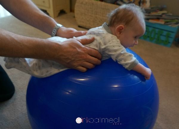 Tummy Time On A Ball | Tummy time mat