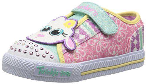 7196e67b6735 Skechers Kids 10393N Twinkle Toes Critter Buds Light-Up Sneaker ( Toddler Little Kid