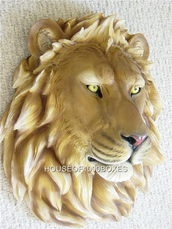 Lion Wall Mount Head Large New Safari Jungle King Lion