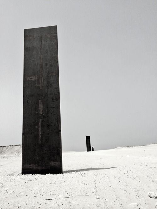 Richard Serra's 'East-West/West-East' in Qatar, 2014.