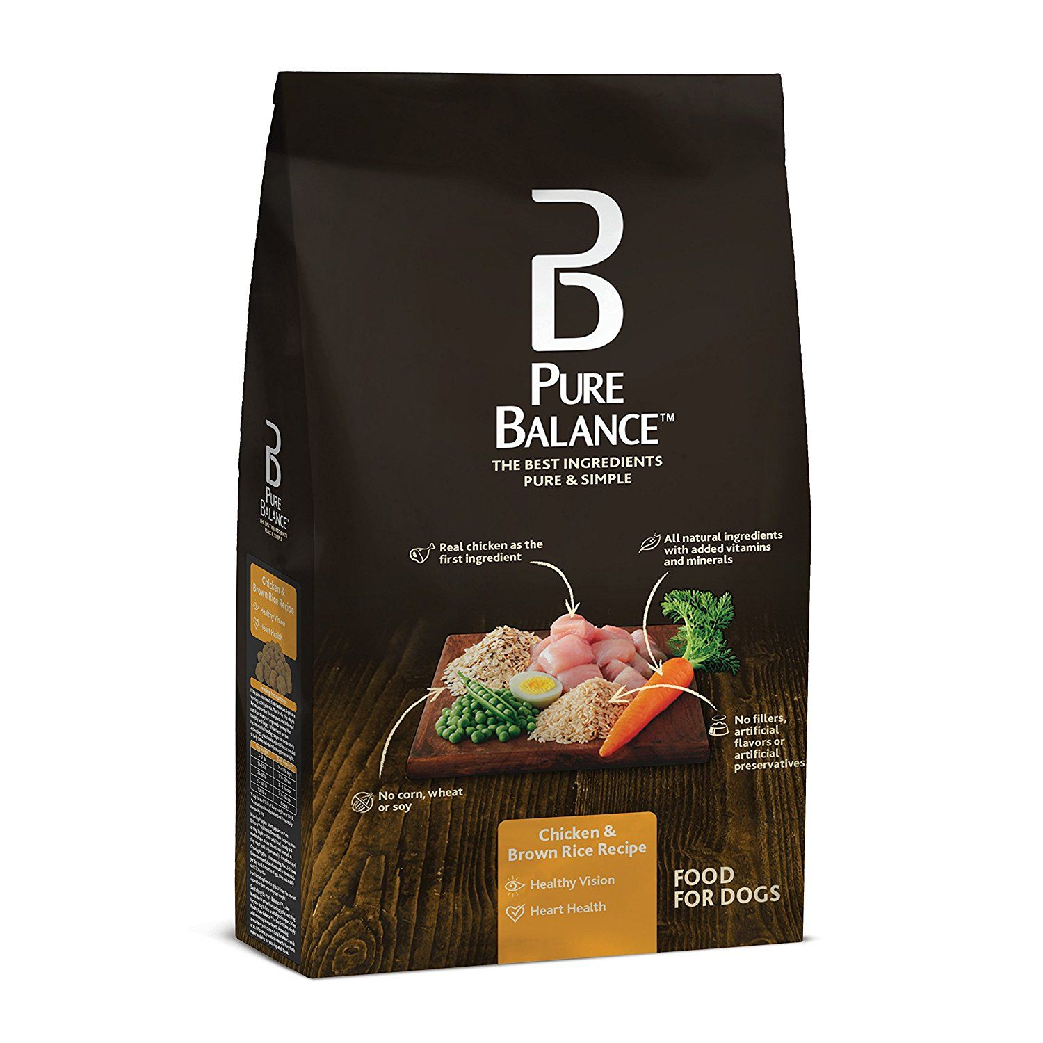Pure Balance Dog Food, Chicken and Brown Rice Recipe, 15