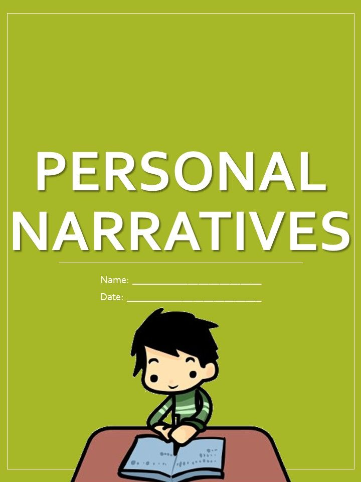 personal narrative printable personal narratives school resources