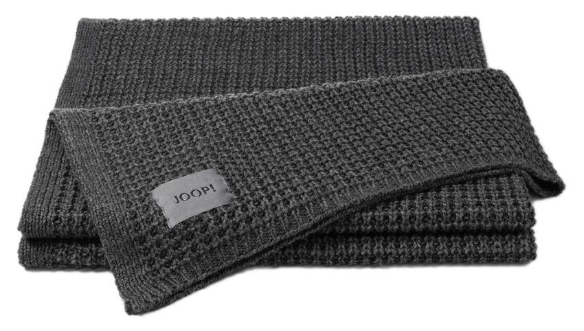 Decke Joop Knit Anthrazit 130x180 Kaufen Kuscheldecke Kuscheln Decke