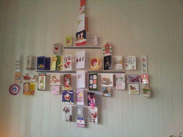 Kaarten kerstboom