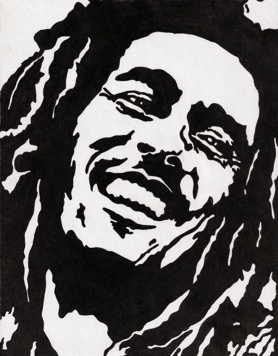 Bob Marley Stencil by MexicanDrunk on DeviantArt Gallery
