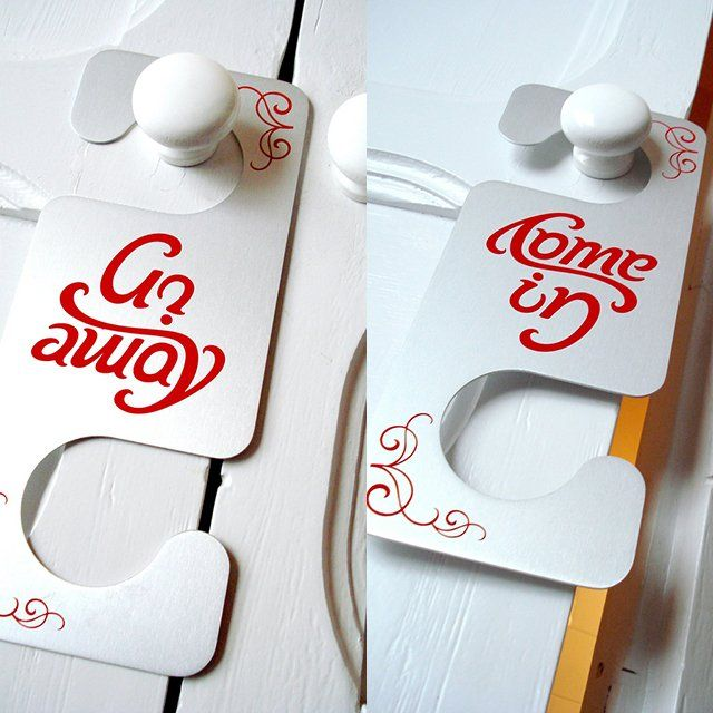 (6) Fancy - Come In/Go Away Door Hanger