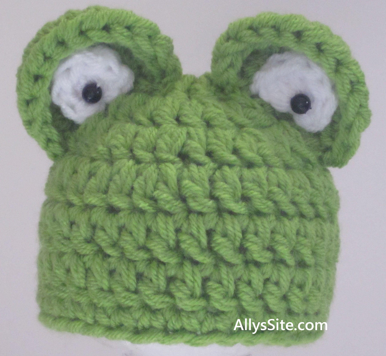 Chunky frog hat crochet pattern newborn to 12 months knitting chunky frog hat crochet pattern newborn to 12 months knitting and crochet blog bankloansurffo Choice Image