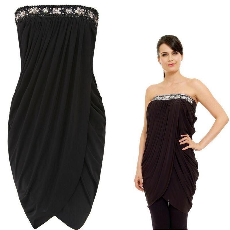 Sexy maxi maglia con strass e cristalli nera Goddiva Taglia m l https   93e639d378c