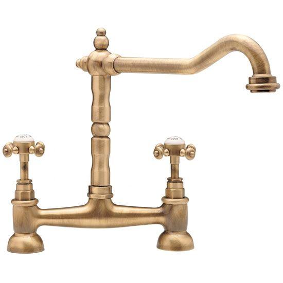 Tre Mercati French Clic Mono Bridge Sink Mixer Antique Br 187 At Victorian Plumbing Uk