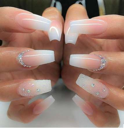 New wedding nails for bride acrylic ring finger ideas