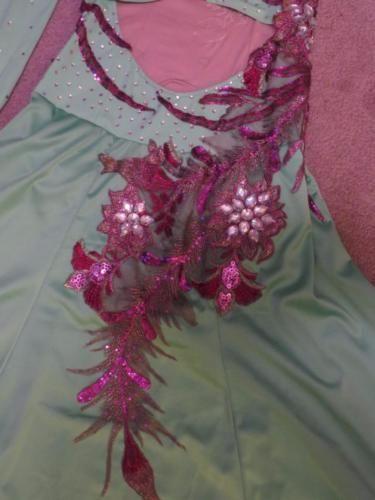 Ballroom-Competition-Waltz-Foxtrot-Quickstep-Dance-Dress-Mint-Purple-sz-4-to-8