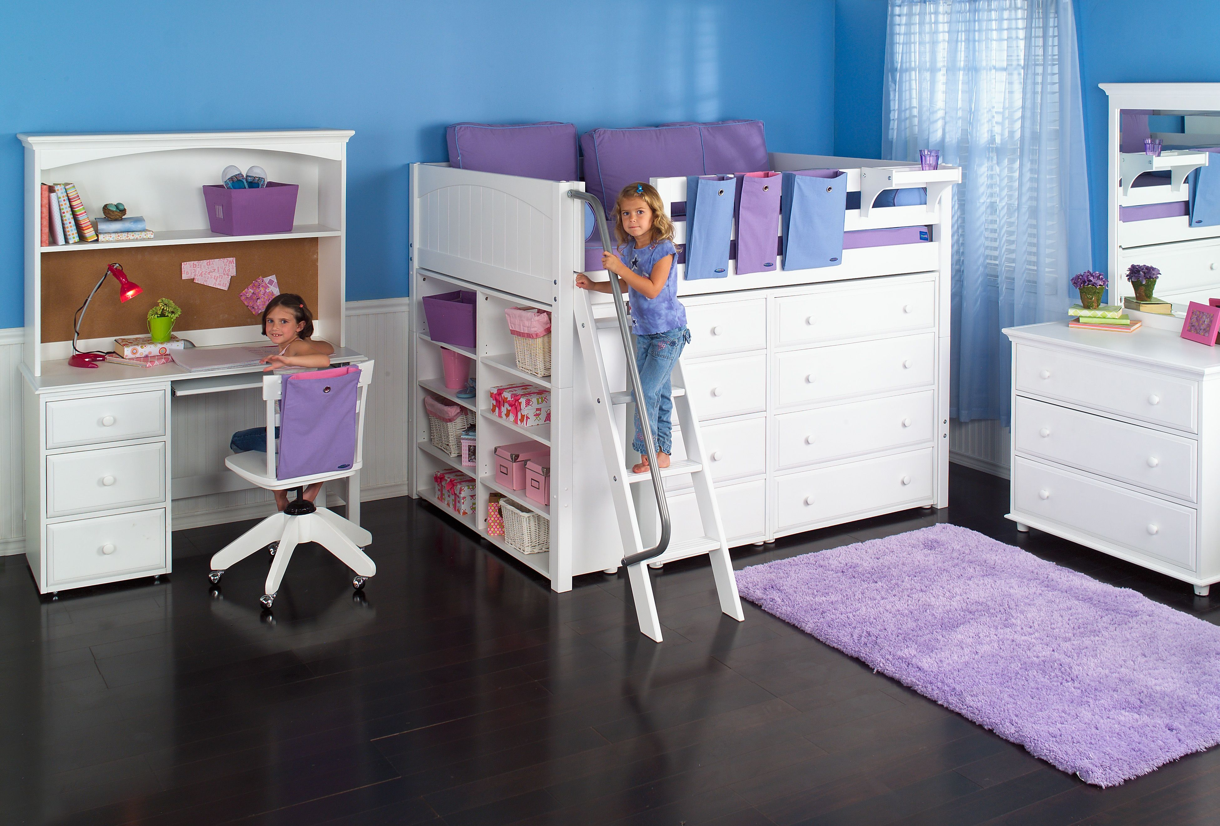 Full Size Mid Loft Bed By Maxtrix Furniture Maximize Your Storage