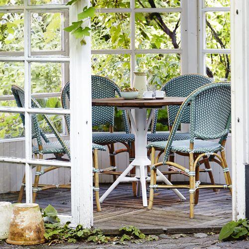 Chaise En Rotin Intérieur Extérieur Sofie Sika Design Vert - Fauteuil rotin exterieur