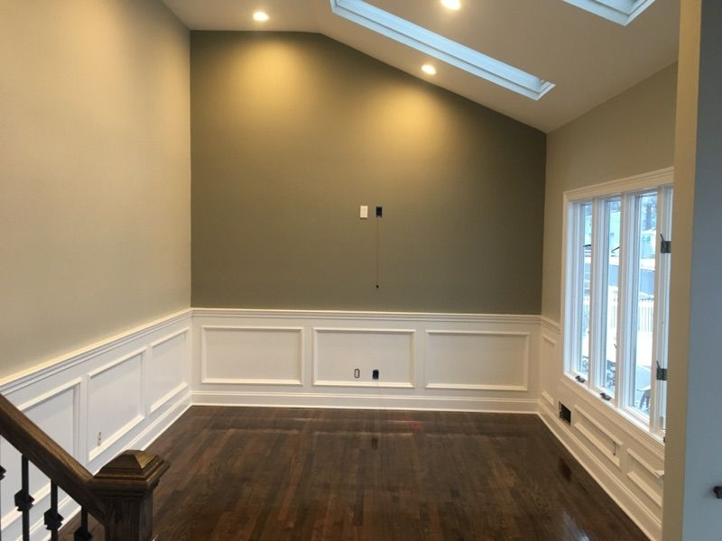 Benjamin Moore 1557 Silver Song Accent Wall 1559