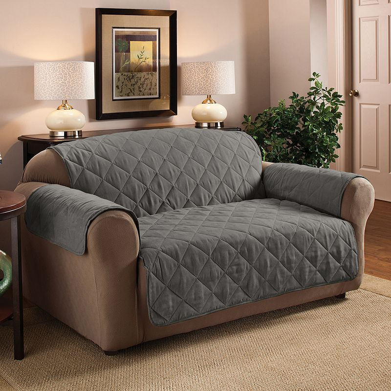 Jeffrey Home Suede Sofa Protector Loveseat Slipcovers