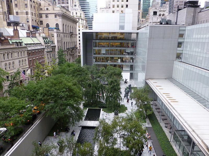 museum of modern art sculpture garden new york ny philip johnson and architecture. Black Bedroom Furniture Sets. Home Design Ideas