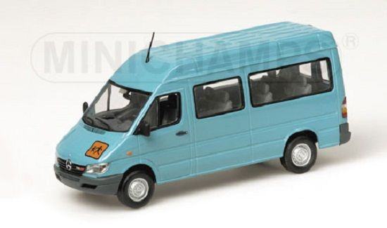 mercedes sprinter 2001 in turquoise 1 43 scale. Black Bedroom Furniture Sets. Home Design Ideas