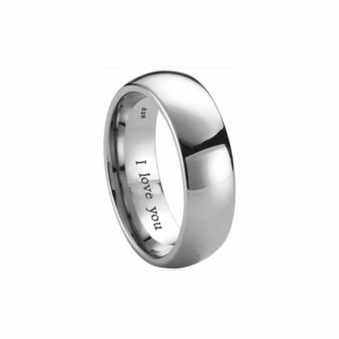BestToHave - Mens Titanium Wedding Engagement Engraved With I Love You Band Ring-Unisex 7ZWNbZx