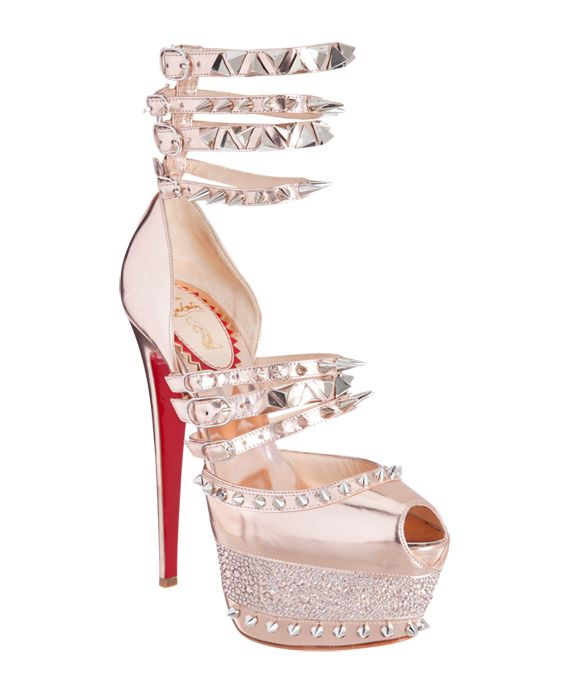 2b1cd2ad6be Christian Louboutin Isolde Spiked Patent-leather Sandals ...