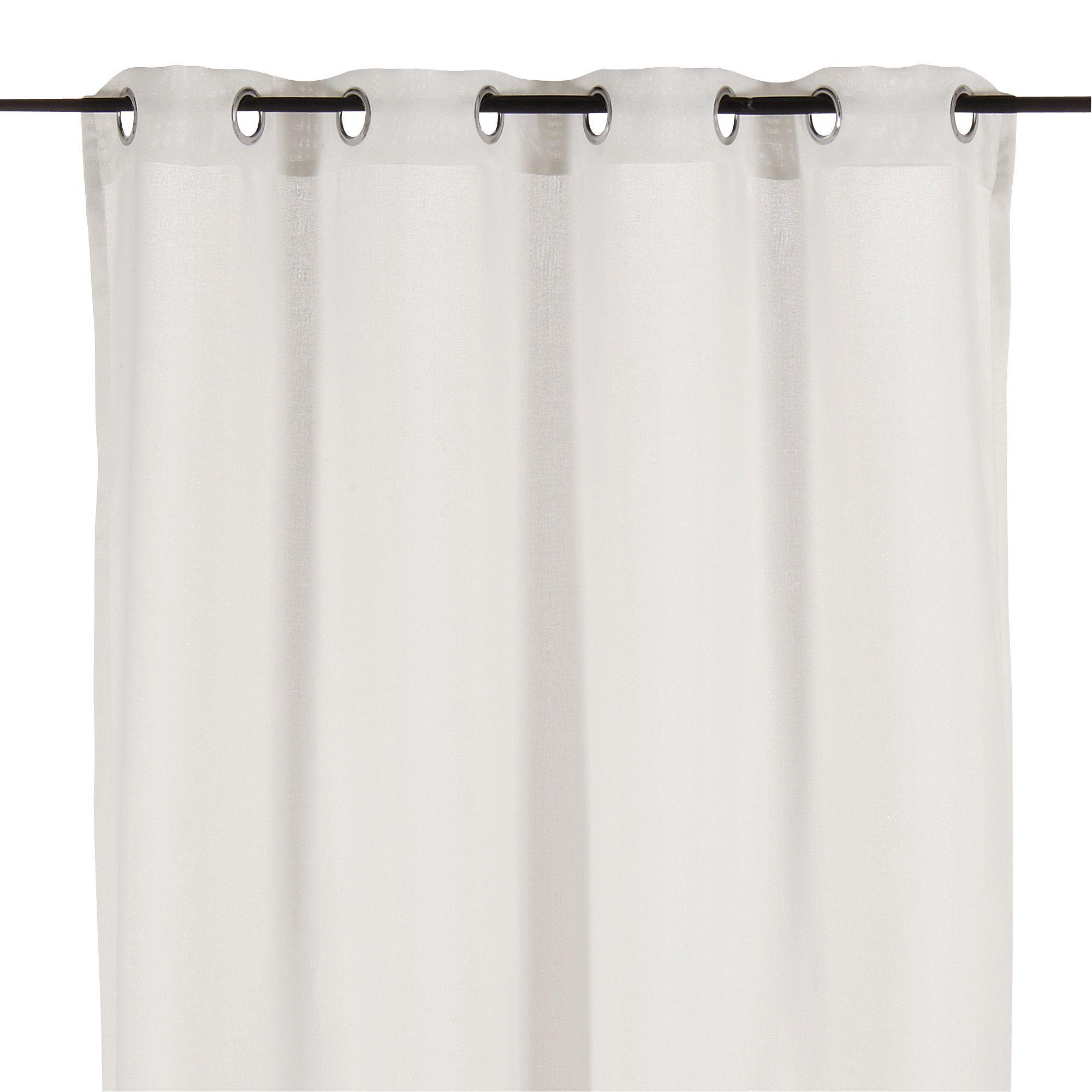Magasin Salle De Bain Valenciennes ~ rideau illets 140x250cm blanc monroe les rideaux rideaux