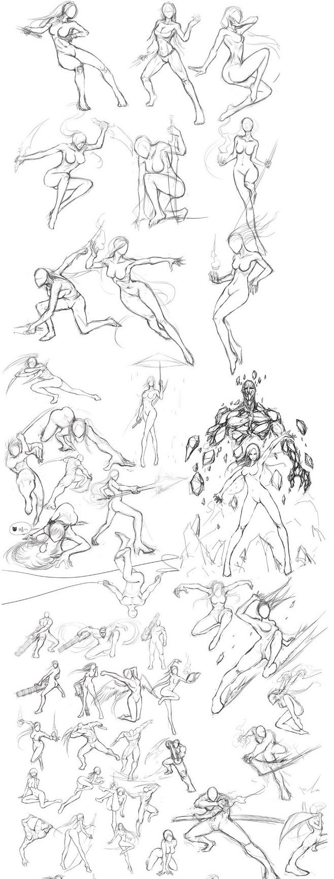 This is a graphic of Challenger Women Drawing Poses