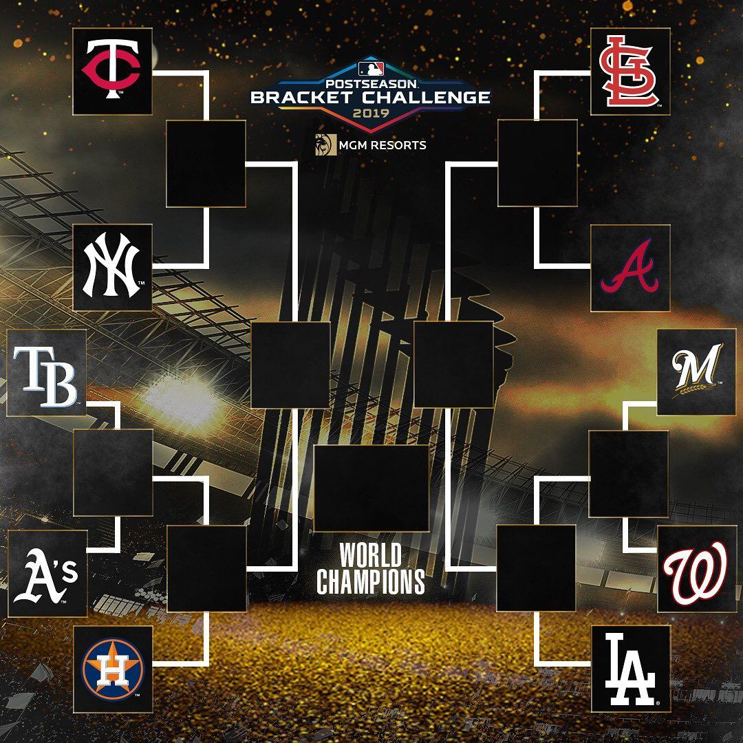 Mlb The Postseason Bracket Is Set Make Your Picks For A Chance To Win 250 000 L Postseason Mlb Postseason Bracket Challenge