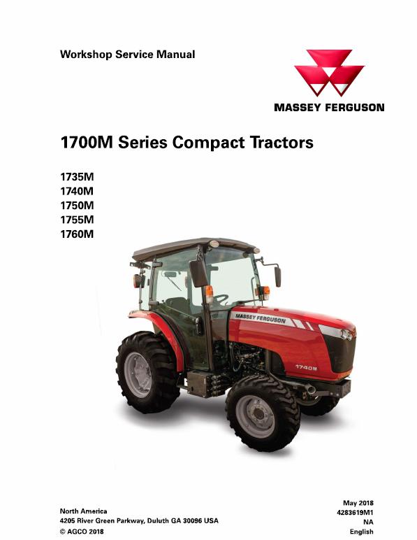 Massey Ferguson 1735m 1740m 1750m 1755m 1760m Tractor Manual Tractors Massey Ferguson Hydraulic Systems