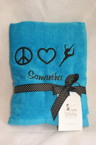 peace love dance beach towel great easter gift