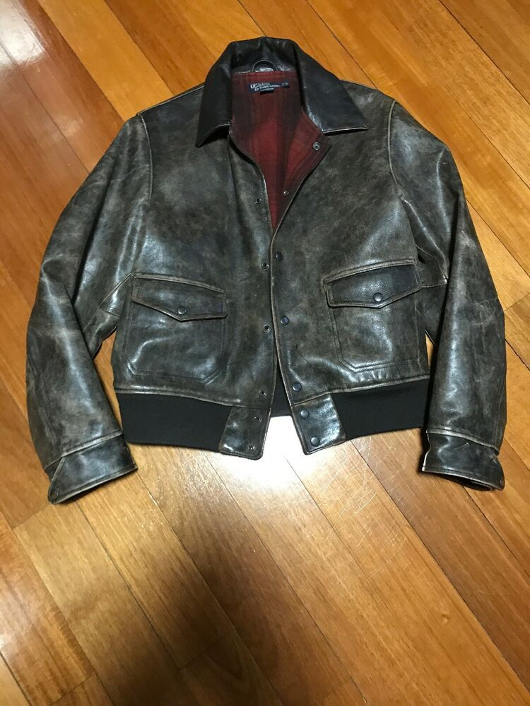 542b306bbe6ce2 eBay  Sponsored Vintage Polo Ralph Lauren Leather Jacket