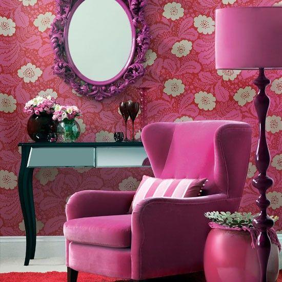 Lila Blumen Wohnzimmer Wohnideen Living Ideas Interiors Decoration - wohnzimmer design lila