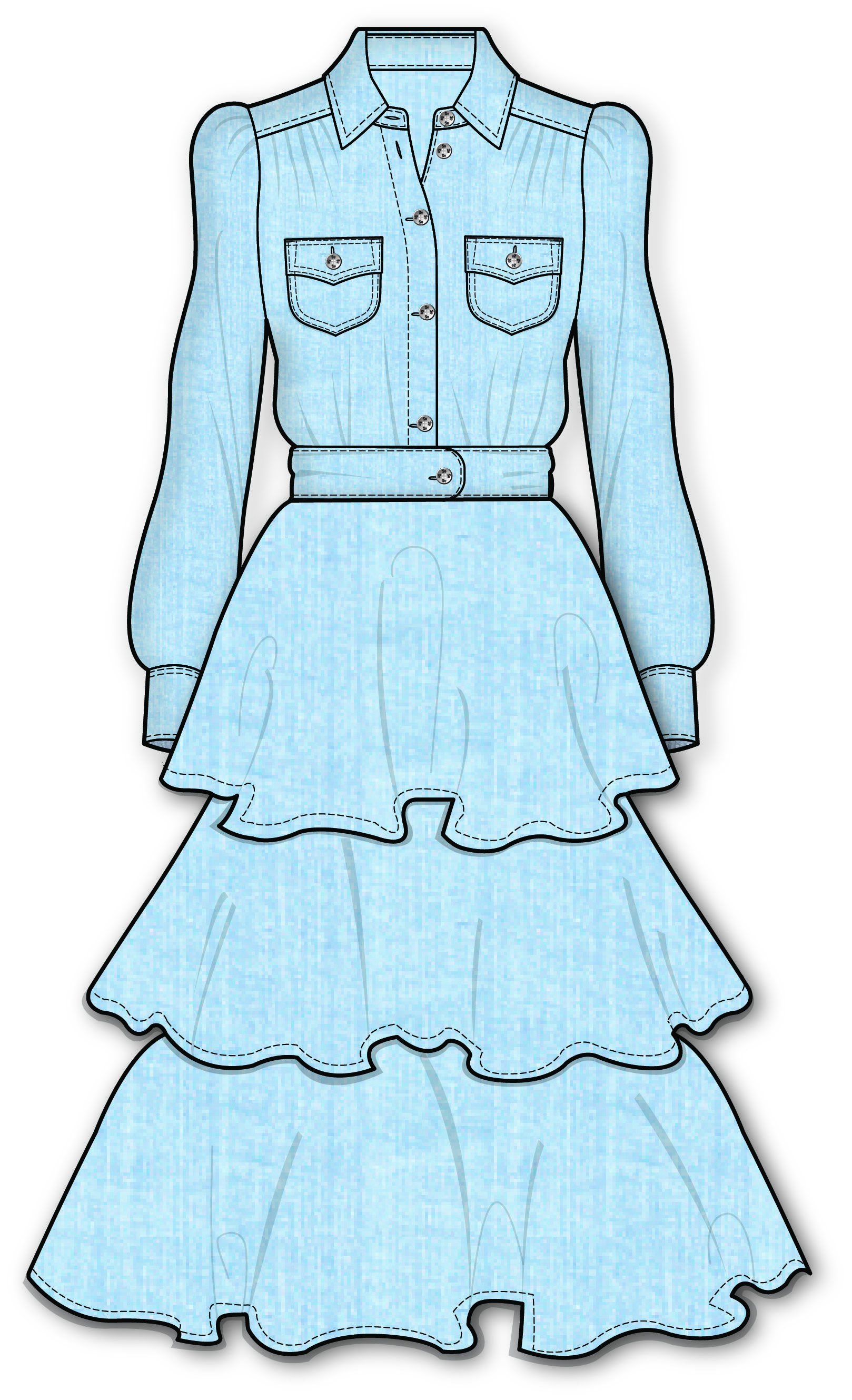 Pin de Fashion RoseDoll en Fashion Flat Sketch   Pinterest   Figurin ...