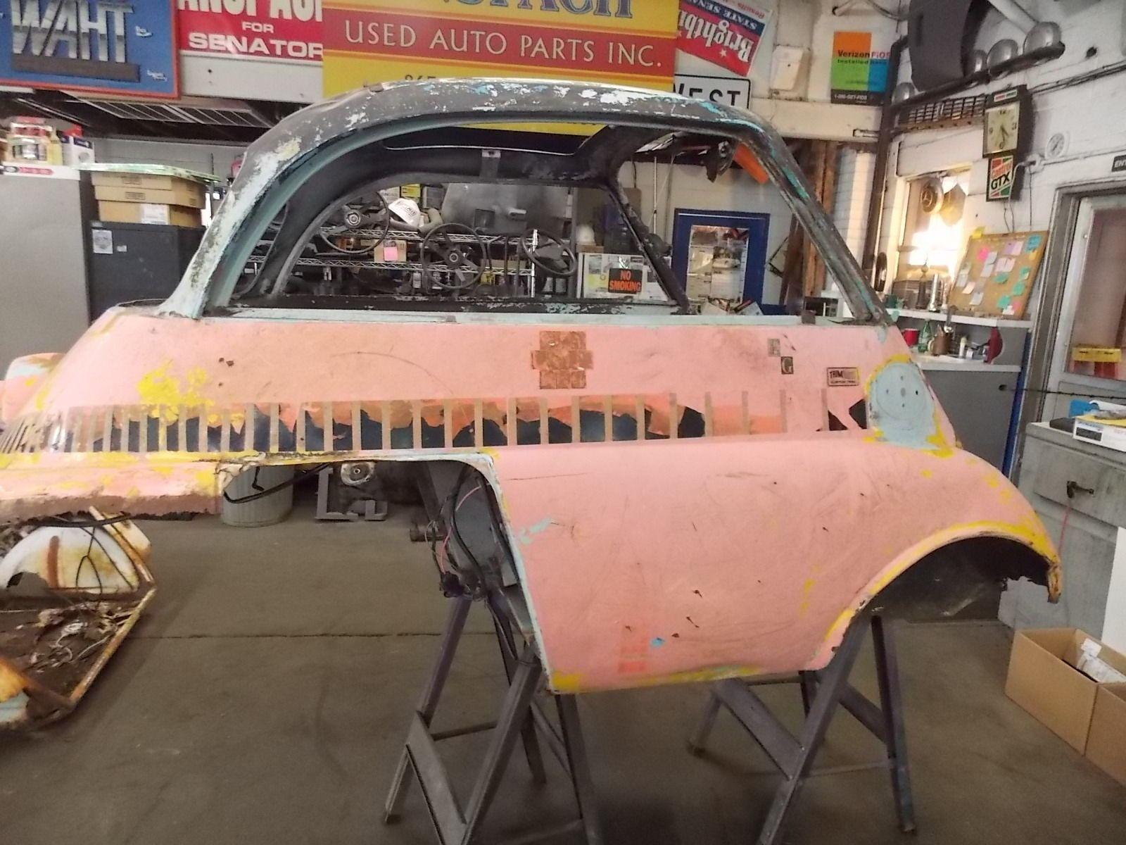 eBay 1958 BMW Isetta Pink BMW Isetta Body shell Bare Body stripped