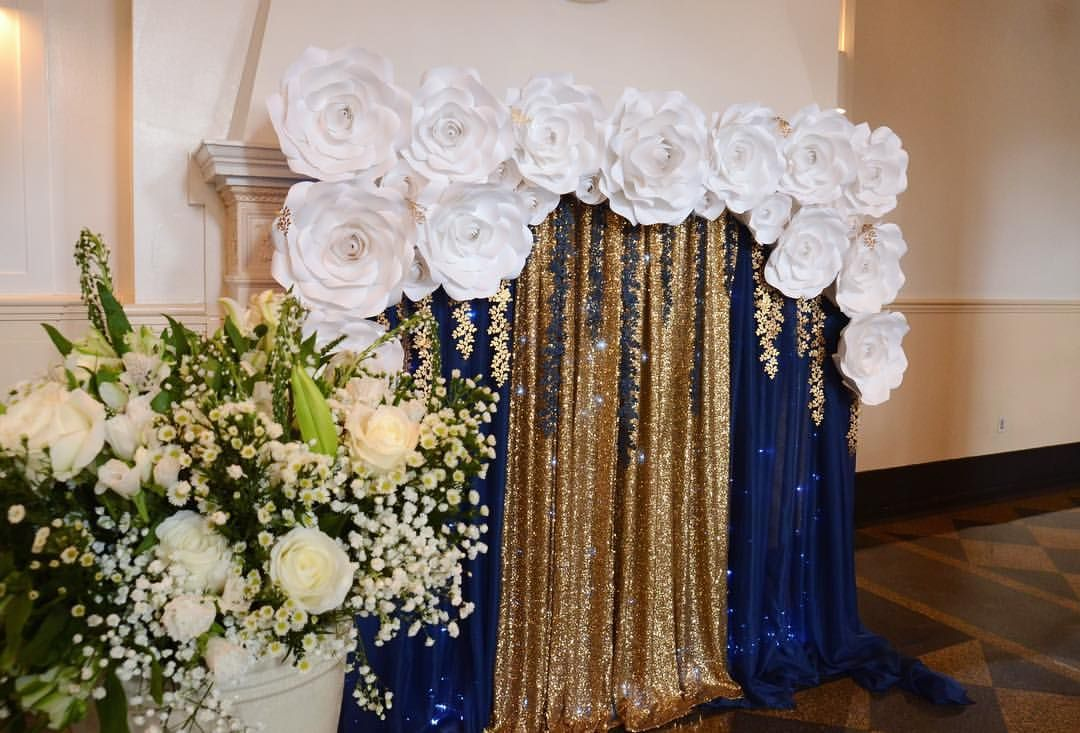Eco Wedding Stunning Paper Flowers Gorgeous Wedding Backdrop For