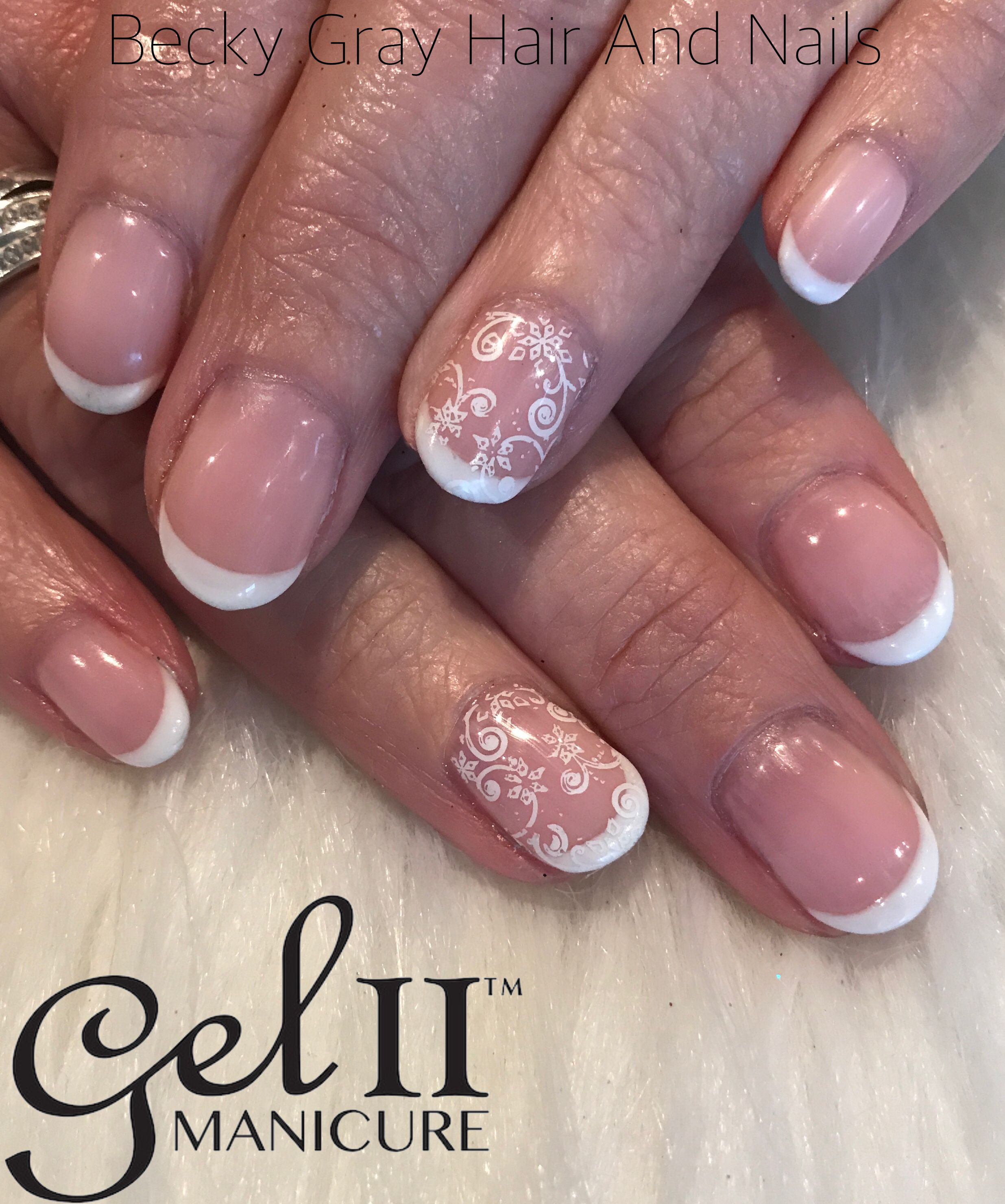 Gel ii manicure with snowflake nail art #gelii #geltwo #manicure ...