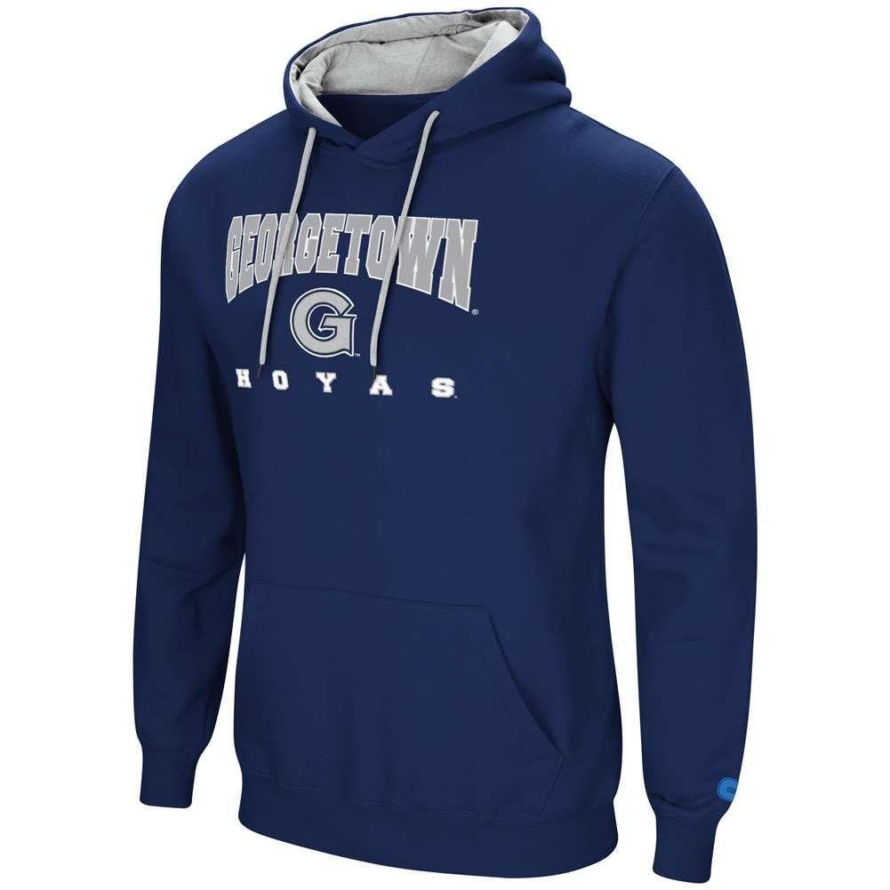 Georgetown Hoyas Colosseum Playbook Hoodie Navy Hoodies Warm Sweatshirts Pullover Hooded Sweatshirt [ 1001 x 1001 Pixel ]
